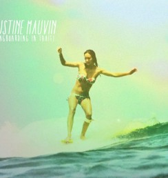 Justine Mauvin Surfing in Tahiti.